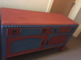 Retro shabby chic sideboard