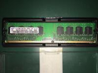 Samsung 1Gb (2 x 512MB) SAMSUNG M378T6553CZ0-CD5 512MB PC2-4200U 533MHZ DDR2 RAM.