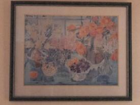 Beautiful framed fruit bowl picture