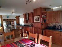 Beautiful solid oak bespoke kitchen with granite worktops