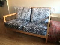 2 Seater Sofa with handmade zip on covers