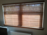 Wooden blind brown as new size 185cm x 105cm drop