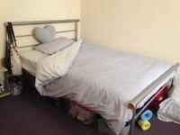 Aluminium bed frame + spring mattress + (quilt+2 pillows for free).
