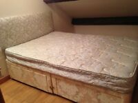 Double bed shabby chic vintage style