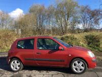 RENAULT CLIO 1.2 DYNAMIQUE 55 REG JUST HAD NEW CLUTCH MOT NOVEMBER 24TH LOW INSURANCE 48+MPG