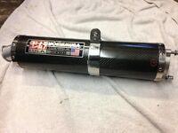 "Mint condition ""Yoshimura"" carbon fiber exhaust."