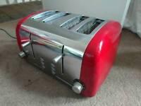 Red 4 slice toaster retro