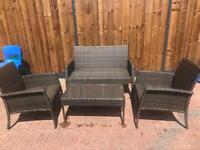 Rattan effect garden furniture