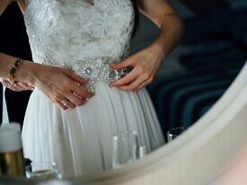 Embellished 3D Floral Applique Wedding Sash/Belt (David's Bridal)