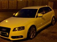 IMMACULATE🏁 AUDI A3 2.0 TDI 140 S LINE 🏁SPORTBACK🏁 🏁 LEATHER🏁60 REG 🏁BRILLANT WHITE 🏁🏁CHEAP