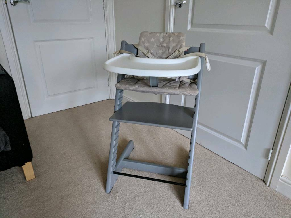 storm grey stokke tripp trapp high chair in newcastle under lyme staffordshire gumtree. Black Bedroom Furniture Sets. Home Design Ideas