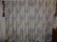 Laura Ashley Tenby Seaspray Floral lined curtains 90 ins x 90 ins