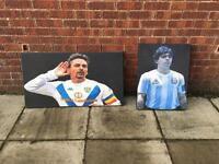 Maradona. Baggio canvas