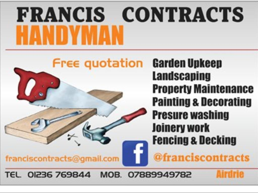 Francis Contracts Decking Fencing Handyman
