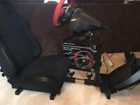 Gameracer pro gaming chair with Ferrari 458 spider steering wheel