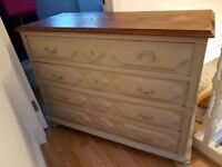 Antique style used wooden chest of drawers