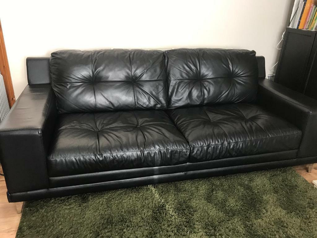Incredible Dfs Used Black Leather Sofa In Weoley Castle West Midlands Gumtree Download Free Architecture Designs Momecebritishbridgeorg