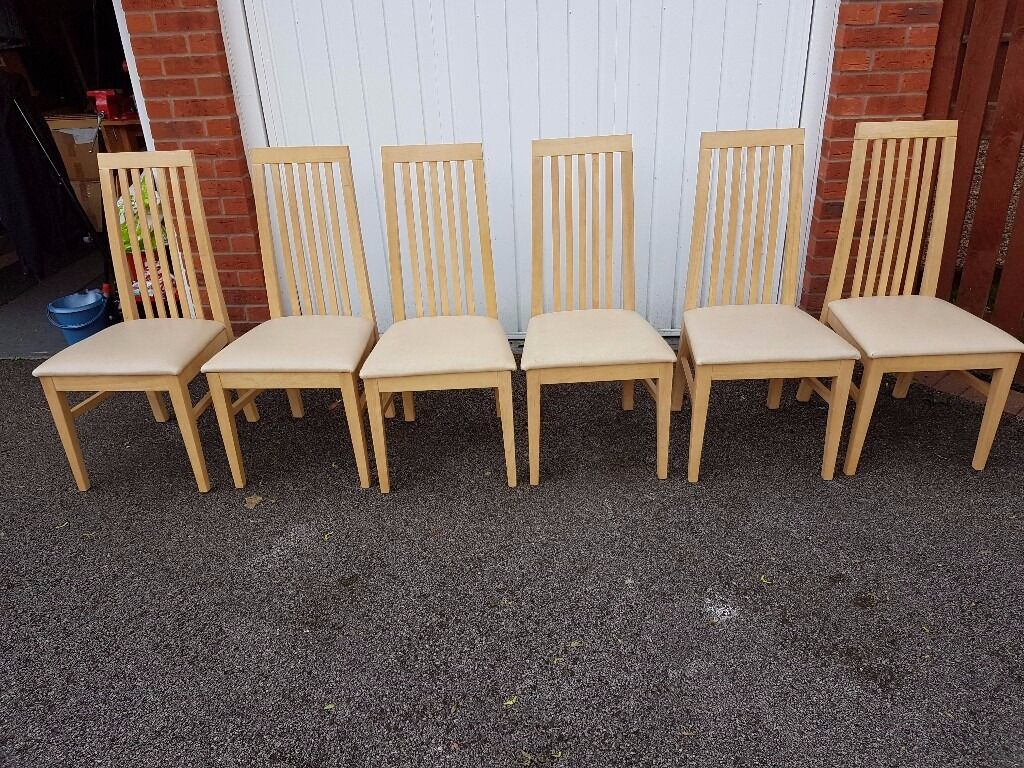 Image 1 of 9Modern Dining Table   6 Chairs FREE DELIVERY 159   in Leicester  . Old Dining Chairs Leicester. Home Design Ideas