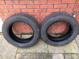 2 part worn tyres