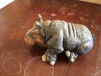 Julian Jardine Sitting Hippo Sculpture, early, unique item