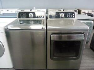 39- SAMSUNG STAINLESS  STEAM  Laveuse Sécheuse Washer Dryer