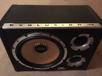 Bass box with amp 12in speaker