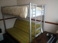 Single bunk bed with double sofa bed