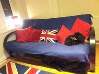 Metal framed bed/settee for sale