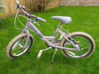 "Kids Girls 16"" bike 5-7 yrs"