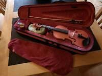 Pink Childrens 1/4 size Archetto Violin & Case