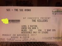 2 Killers Tickets for Glasgow SSE Hydro