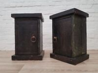 Pair Of Distressed Solid Wood Bedside Cabinets (DELIVERY AVAILABLE)