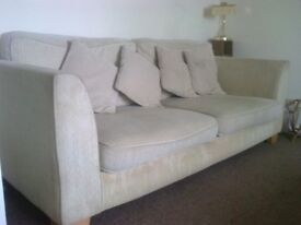 Three seater and Two seater Sofas in very good condition, with cushions