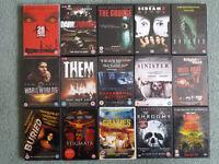 15 Horror DVDs