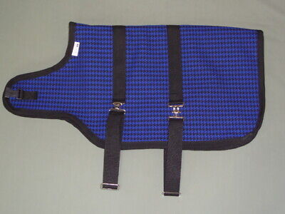 28 Blue Houndstooth Goat Sheep Winter Water-resistant Coat Jacket 3-ply Lining