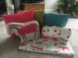 Joules single bedding set - horses