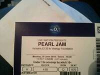 pearl jam ticket