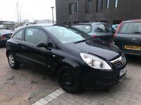 Black Vauxhall Corsa 3 door 1.2 litre lady owner,,