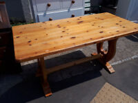 PINE FARMHOUSE DINING TABLE SHABBY CHIC UP CYCLE IN YEOVIL
