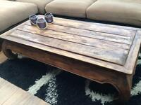 Large solid wood Chinese coffee table