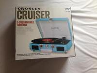 Brand new, Crosely cruiser turntable, record player, vinyl