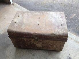 Vintage Metal Storage Box c1950 - Authentically aged