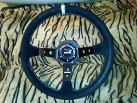 BMW E46 3 Series Momo Steering Wheel and Boss