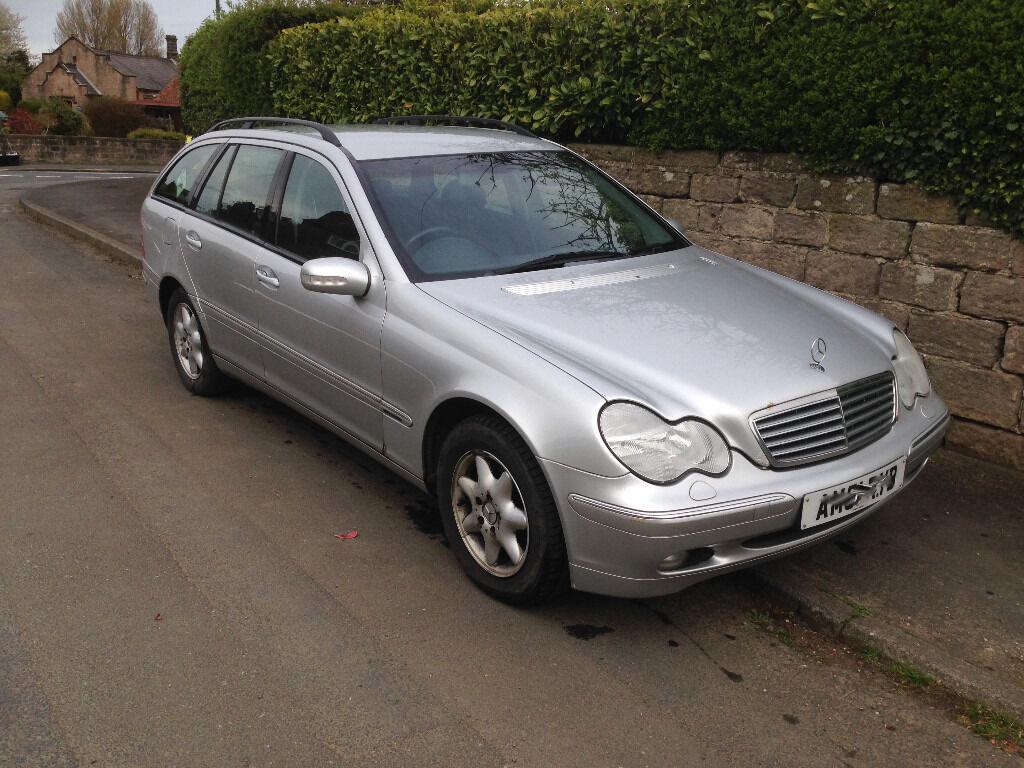 Mercedes C Class Estate, 2.0l Elegance, Automatic, petrol, 2001, metallic silver, 95k.