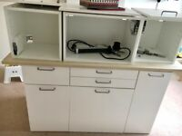 White IKEA Kitchen units as new