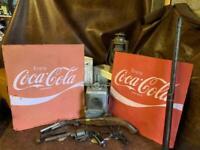 Vintage metal Coca Cola signs