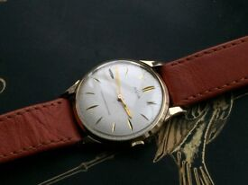 Mens vintage 9k 9ct solid 375 gold Avia watch REDUCED PRICE