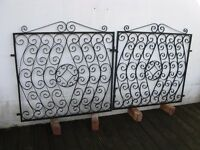Pair of Black Wrought Iron Gates