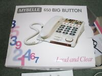BIG NUMBERED AND LOUD SPEAKER PHONE