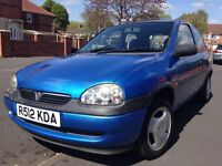 Vauxhall Corsa Sting 1.0. 12 months MOT. History alloys sunroof
